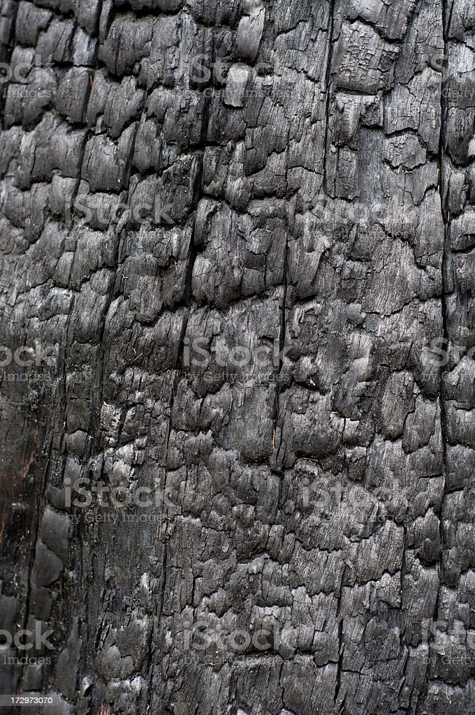 Burned Wood Background royalty-free stock photo