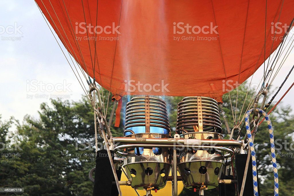 burner with hot flame of balloon stock photo