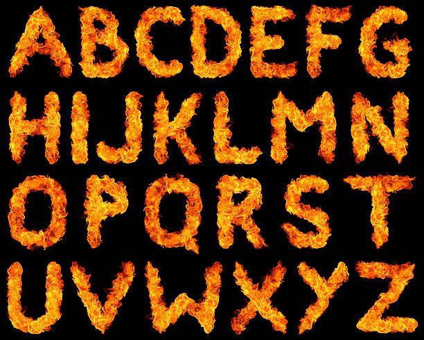 burning alphabet xxxl - ruth 個照片及圖片檔