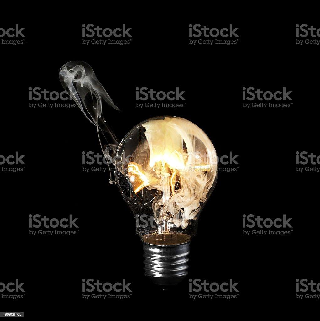 Burning ball royalty-free stock photo