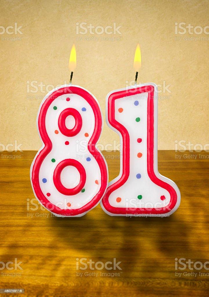 Burning 誕生日のロウソク番号: ストックフォト