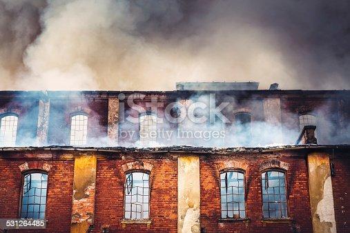istock Burning Building 531264485
