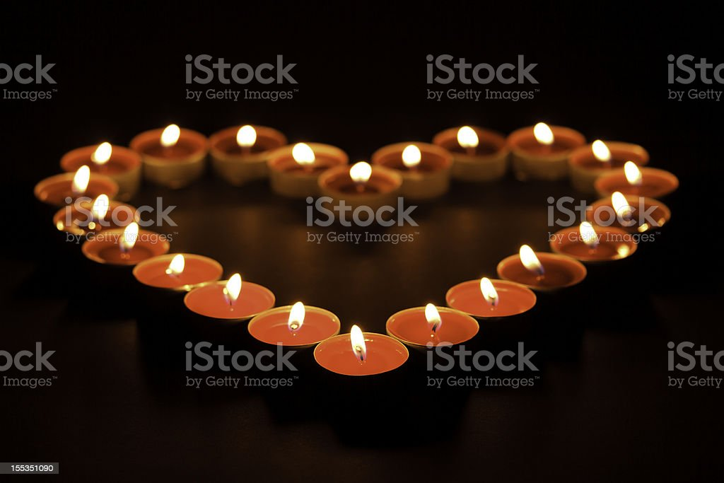 burning candles in blackness royalty-free stock photo