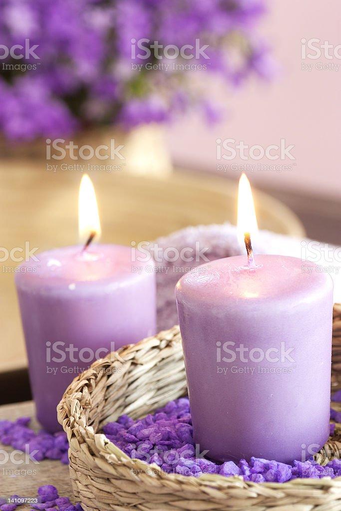 Burning candles royalty-free stock photo