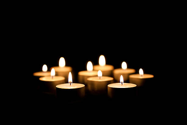 burning candles - candle stock pictures, royalty-free photos & images
