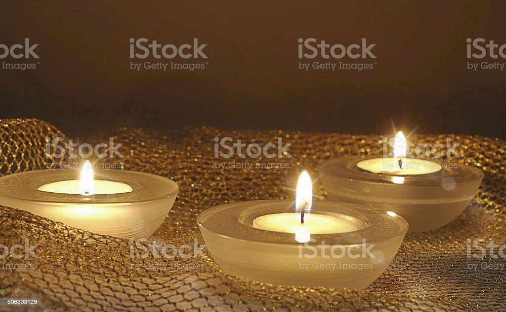 burning candles stock photo