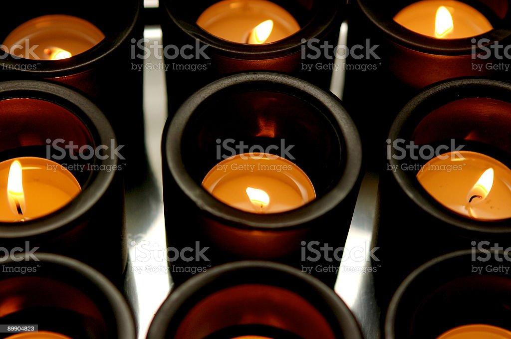 Burning Candle's stock photo