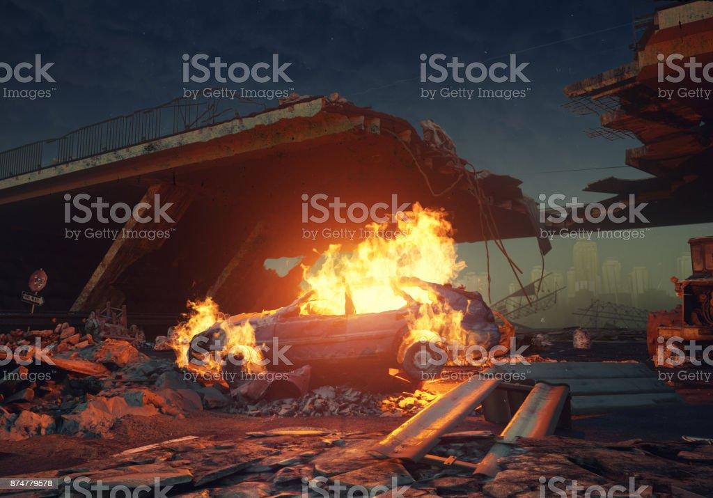 burning Auto – Foto