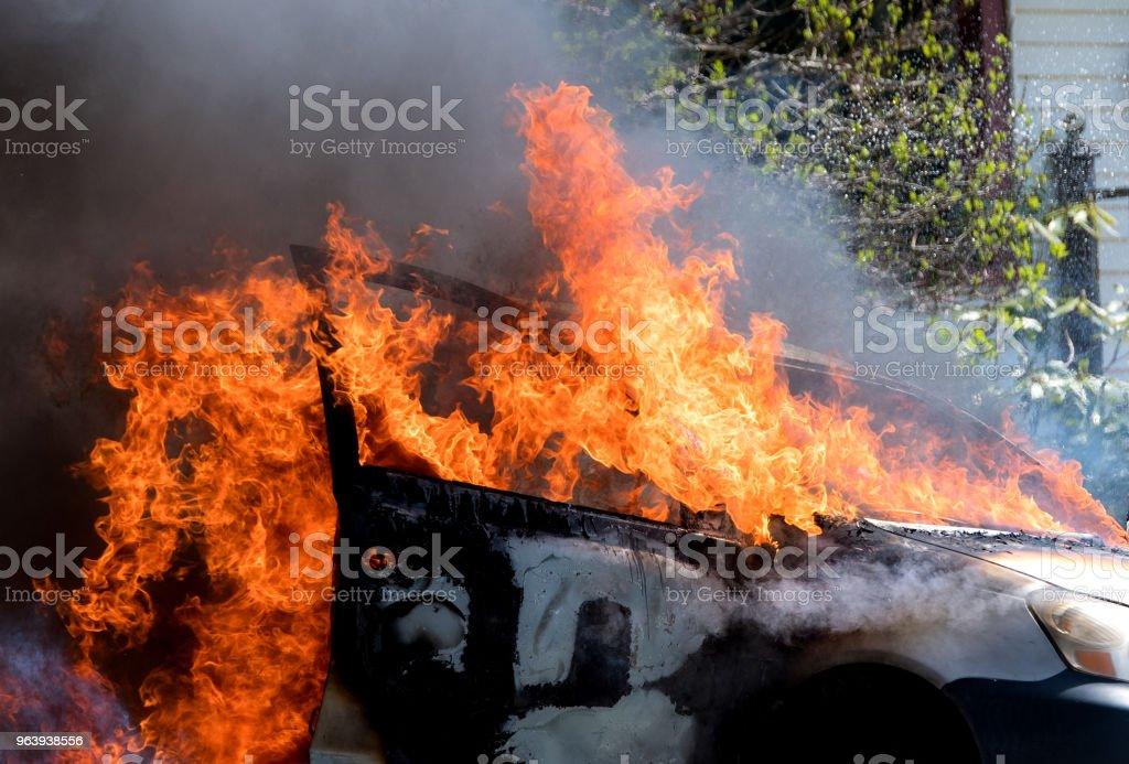 Burning Car - Royalty-free Accidents and Disasters Stock Photo