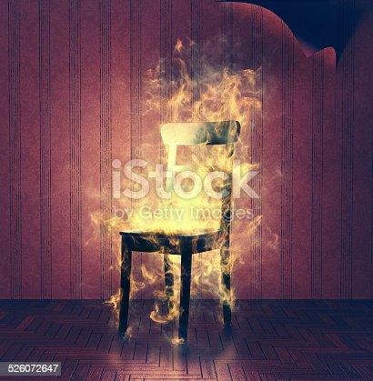 istock burning chair 526072647