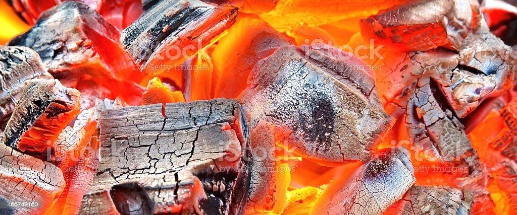 Burning Charcoal Background stock photo