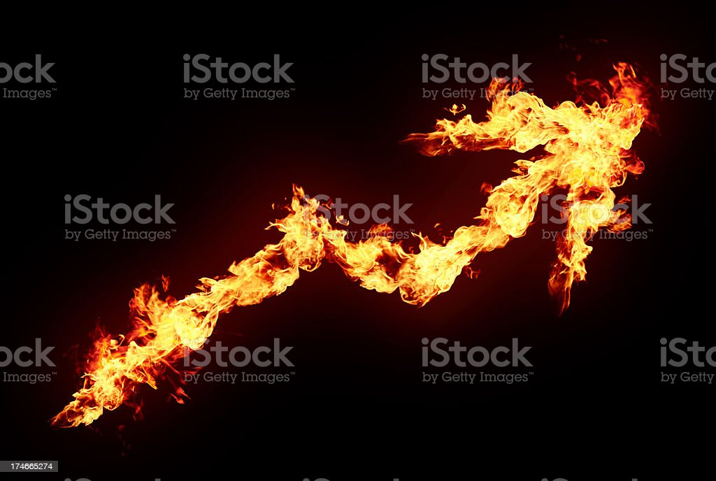 Burning chart stock photo