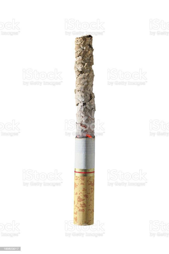 Burning cigarette isolated stock photo