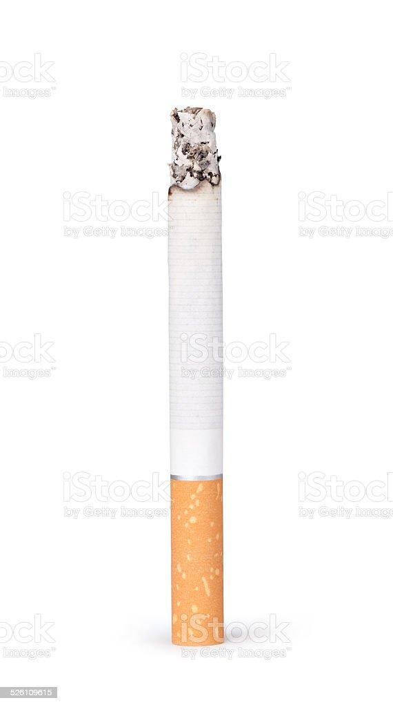 Burning cigarette stock photo