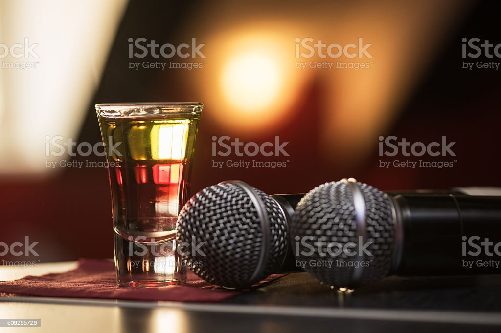 burning drink shot stock photo