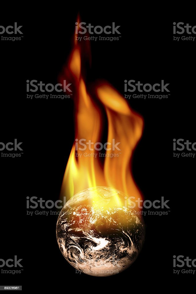 Burning Earth royalty-free stock photo