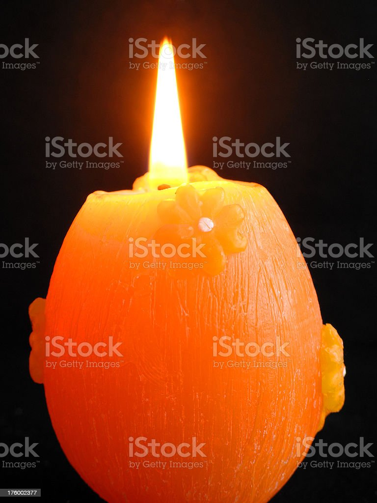 Burning Easter Candle royalty-free stock photo