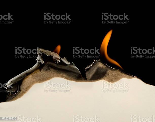 Photo of Burning edge of paper