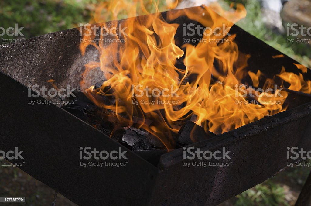 burning embers. Hot and fire royalty-free stock photo