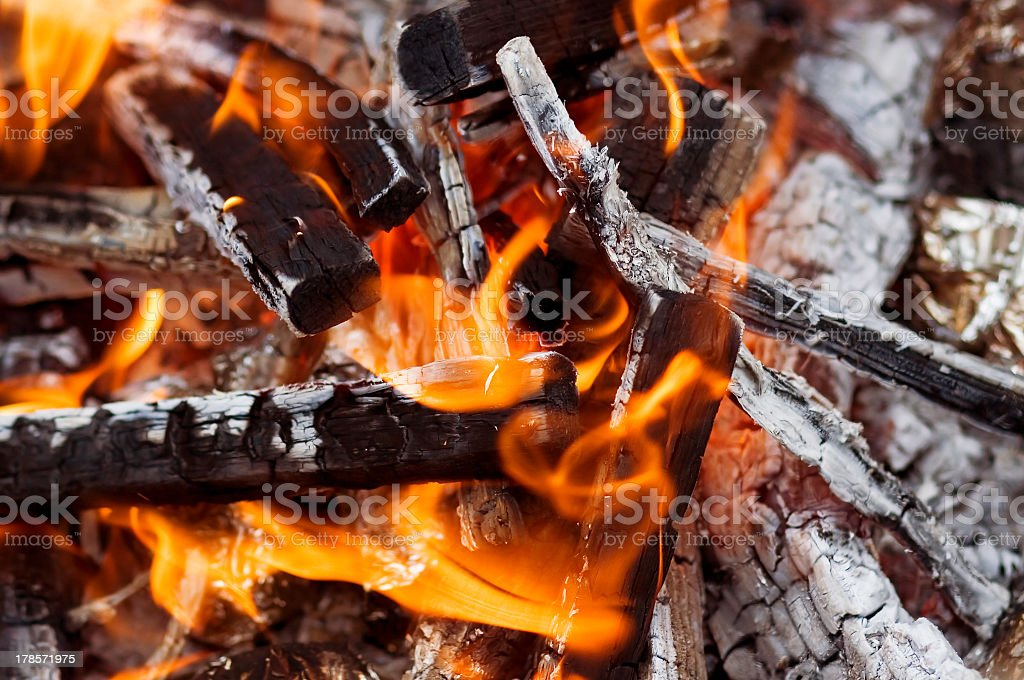 Burning embers royalty-free stock photo