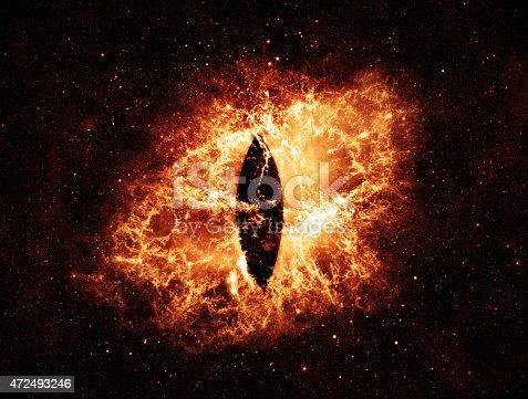 istock Burning Eyes - Elements of this Image Furnished by NASA 472493246