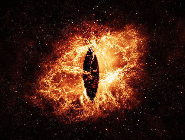 Burning Eyes - Elements of this Image Furnished by NASA stock photo