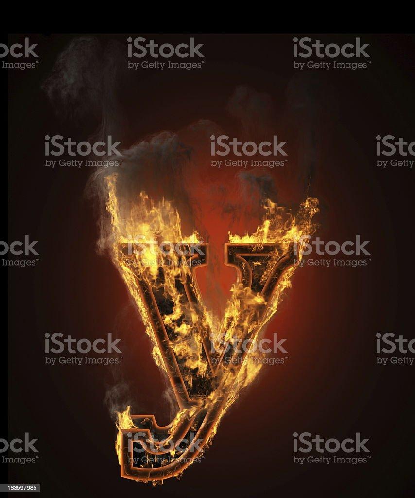 burning figure y royalty-free stock photo