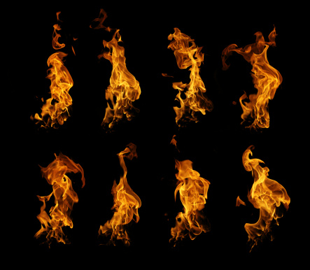 istock Burning fire collection 483047137