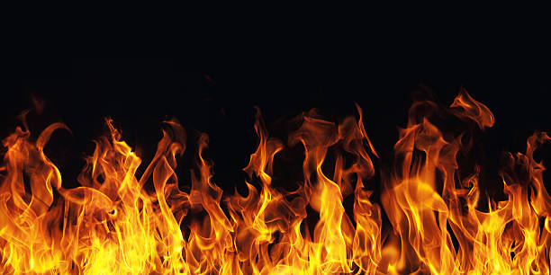 Royalty free flame pictures images and stock photos istock burning fire flame on black background stock photo voltagebd Images