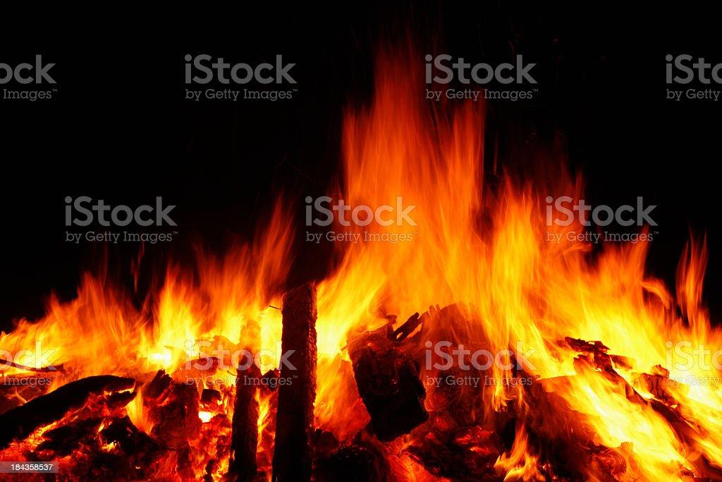 Burning fire royalty-free stock photo
