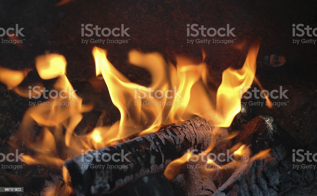 burning fire royalty-free stock photo