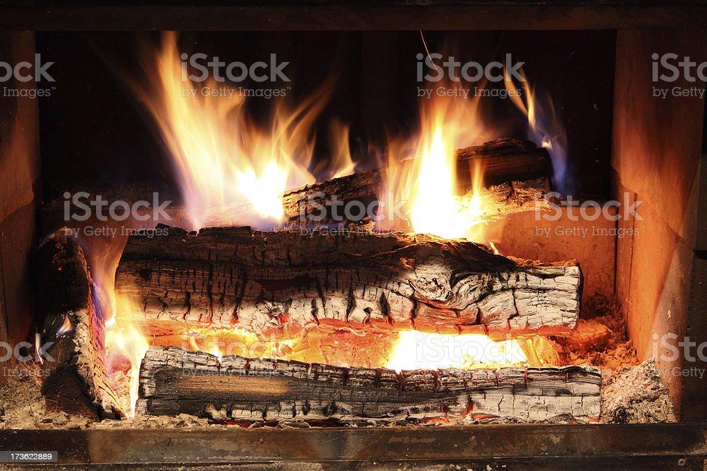 Burning Fireplace royalty-free stock photo