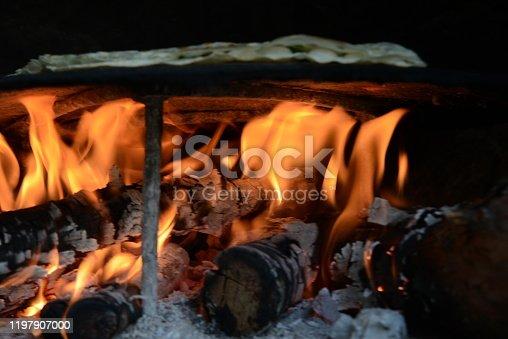 Burning flame isolated