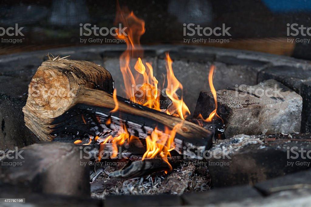 Burning flame royalty-free stock photo