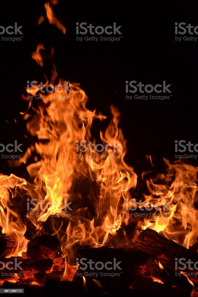 Burning Flames Stock Photo - Download Image Now - iStock