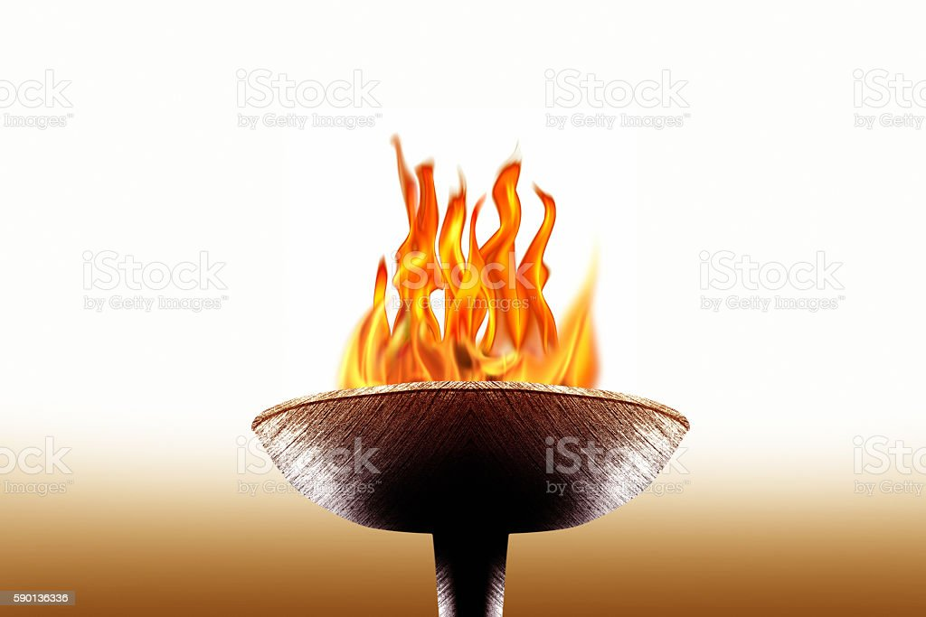 burning flaming torch stock photo