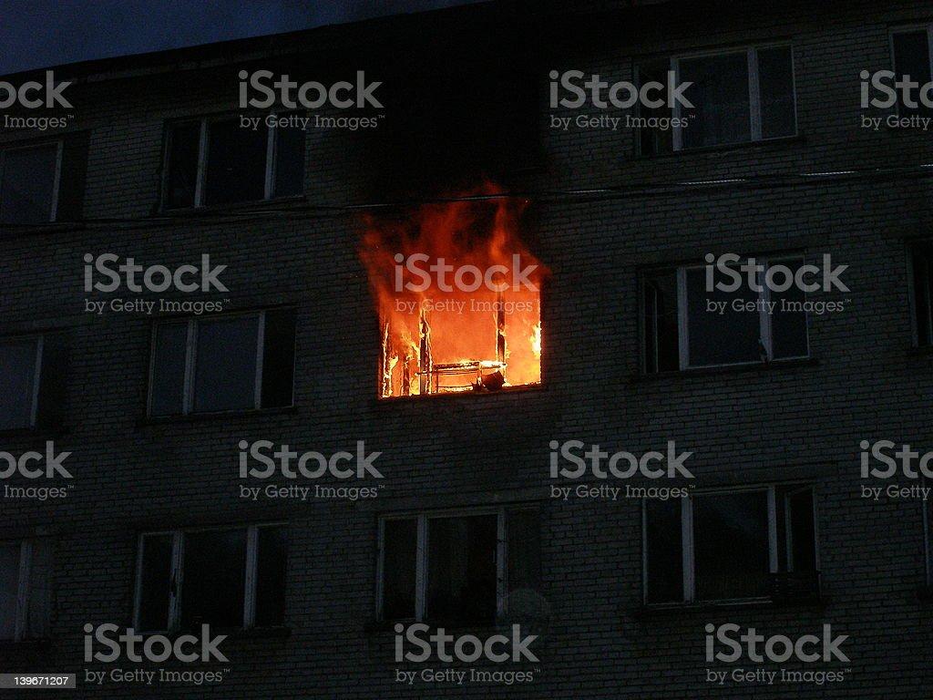 Burning flat stock photo
