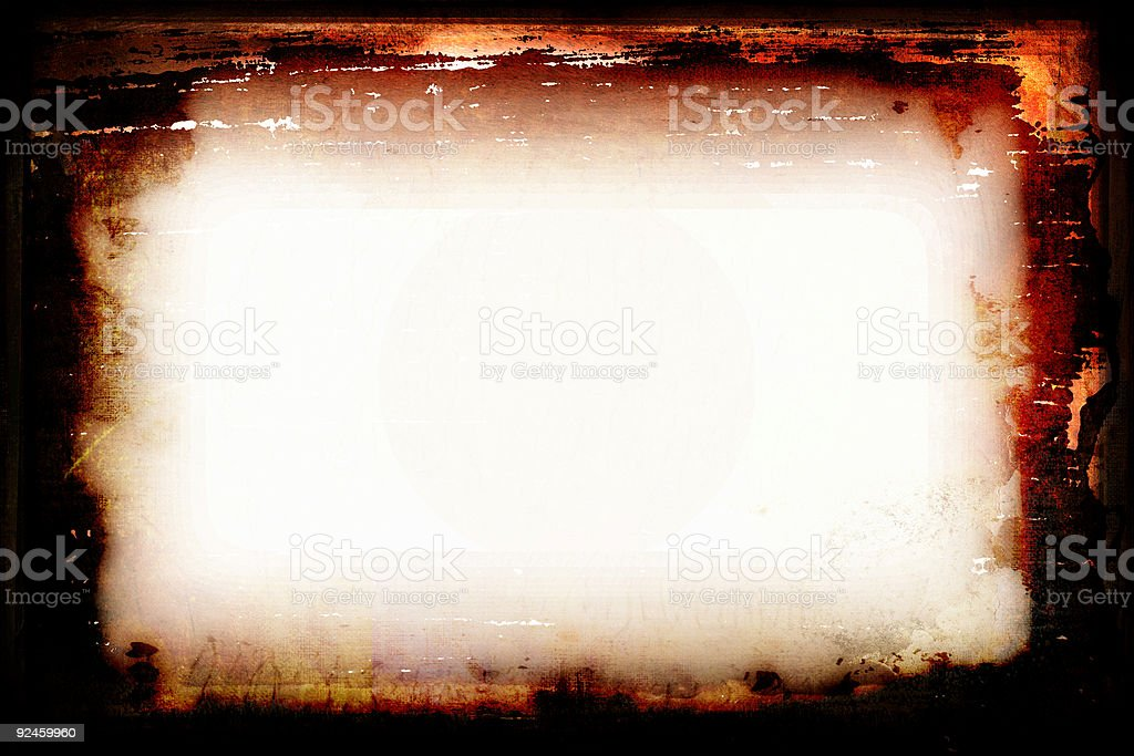 Burning Grunge Frame royalty-free stock photo