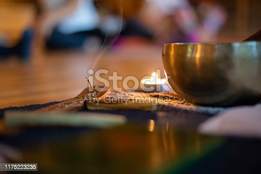 Burning Incense indoors in yoga class