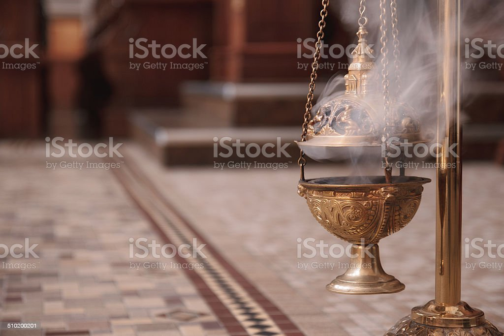 Burning Incense stock photo