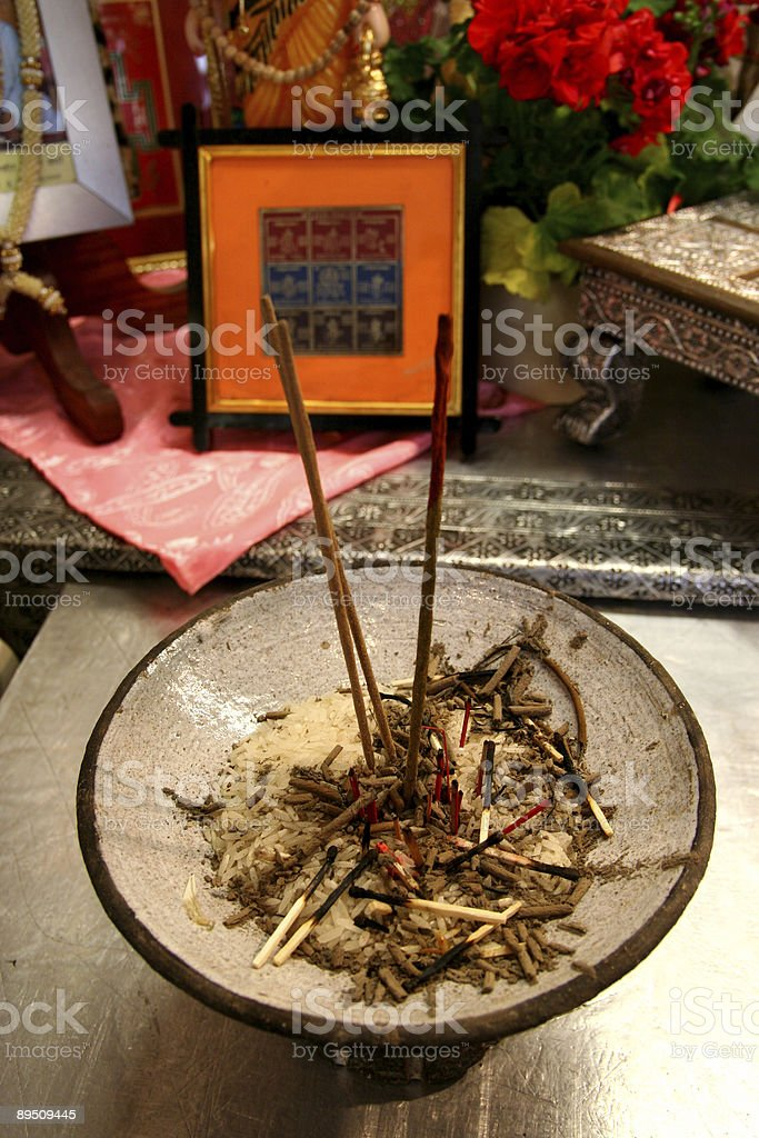 Burning incense royalty-free stock photo
