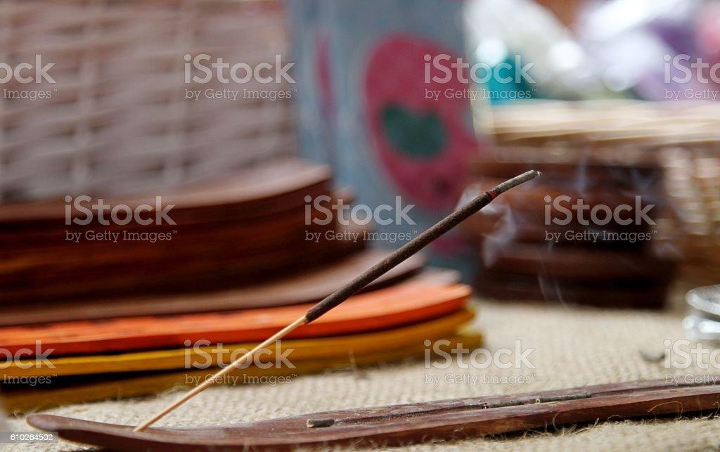 burning Incense stick stock photo