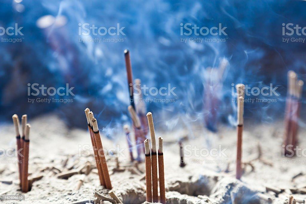 Burning Incense sticks stock photo