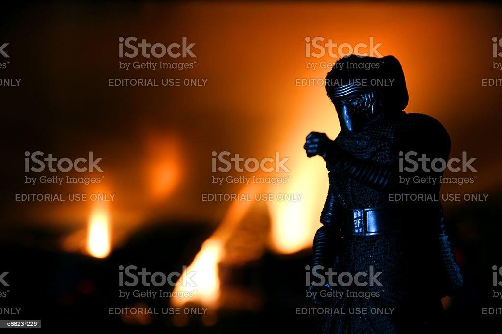 Burning Kylo stock photo