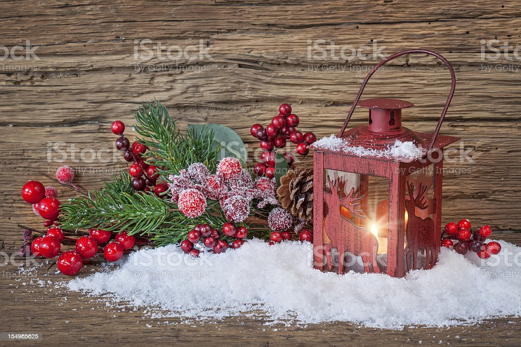Burning lantern royalty-free stock photo
