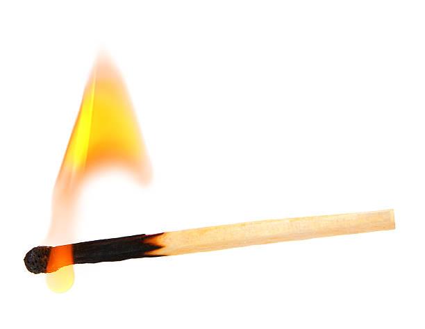 Burning match – Foto