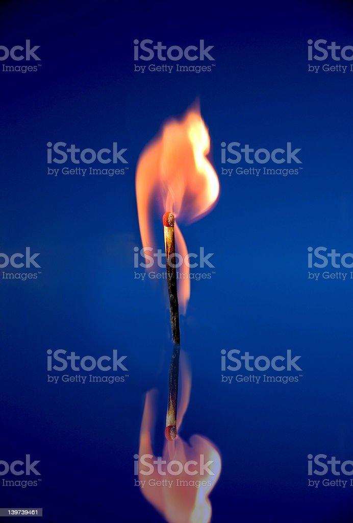 Burning Match royalty-free stock photo