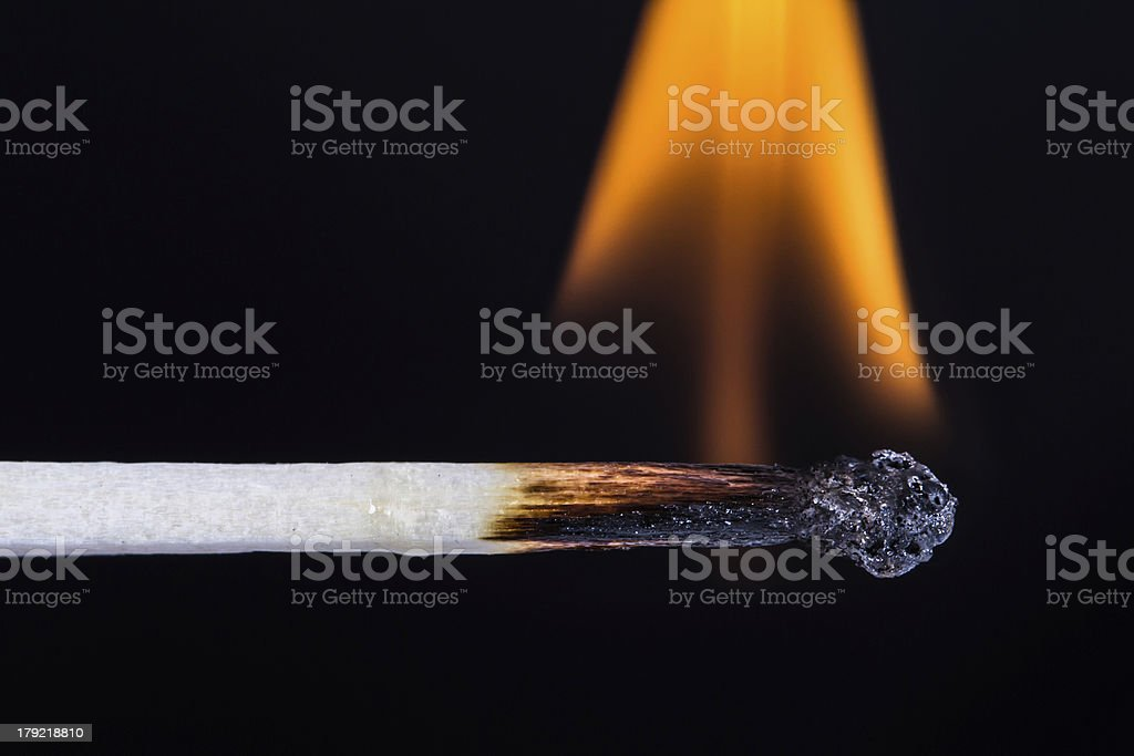 Burning Match royalty-free stock photo