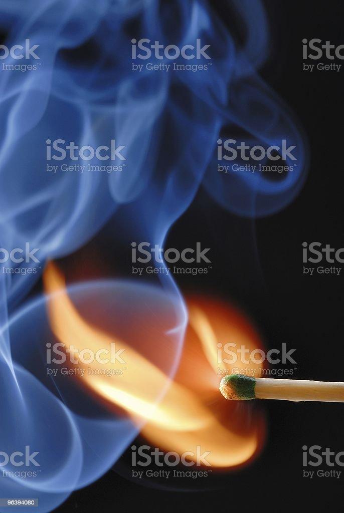 Burning Match - Royalty-free Burning Stock Photo
