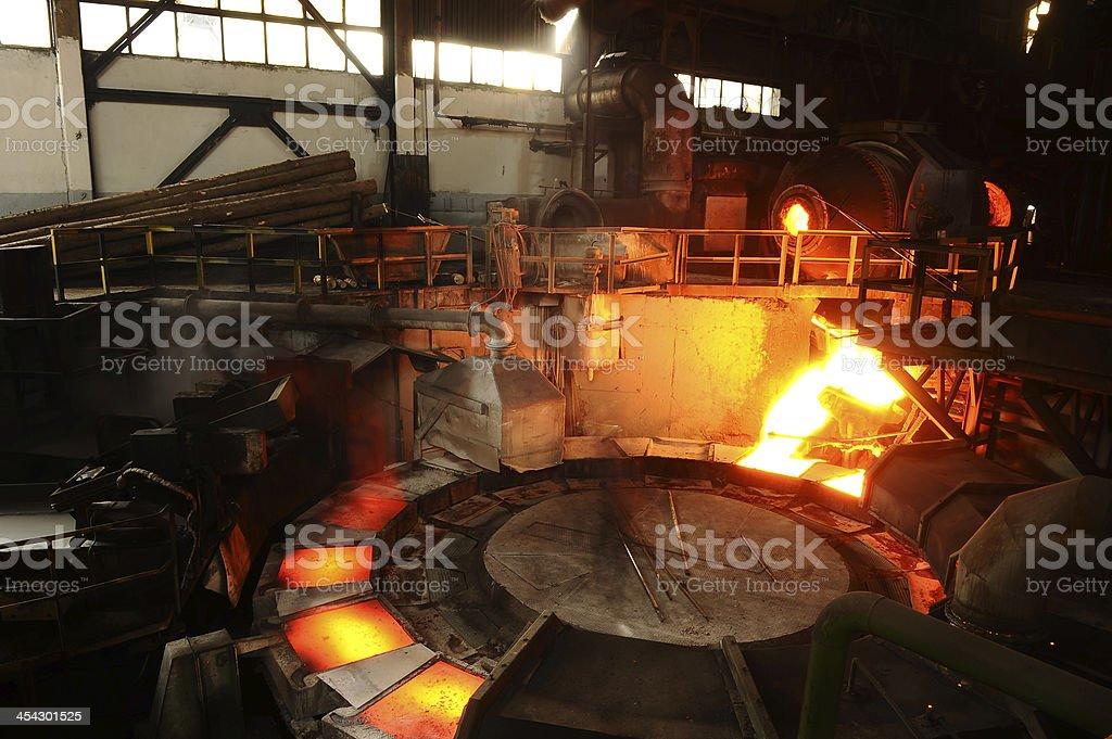 Burning metal stock photo